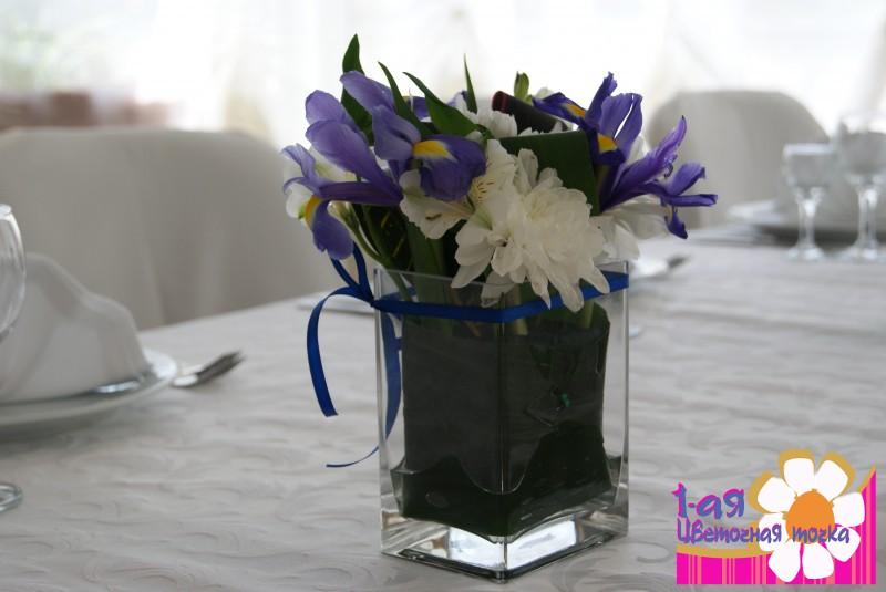 Букет из живых цветов на стол своими руками