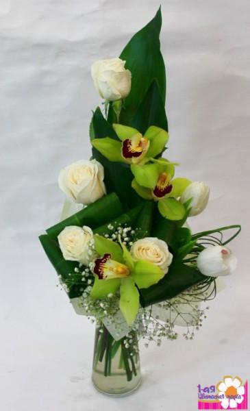 В минуты нежности. Букет с орхидеями. - Доставка цветов, букетов, подарков