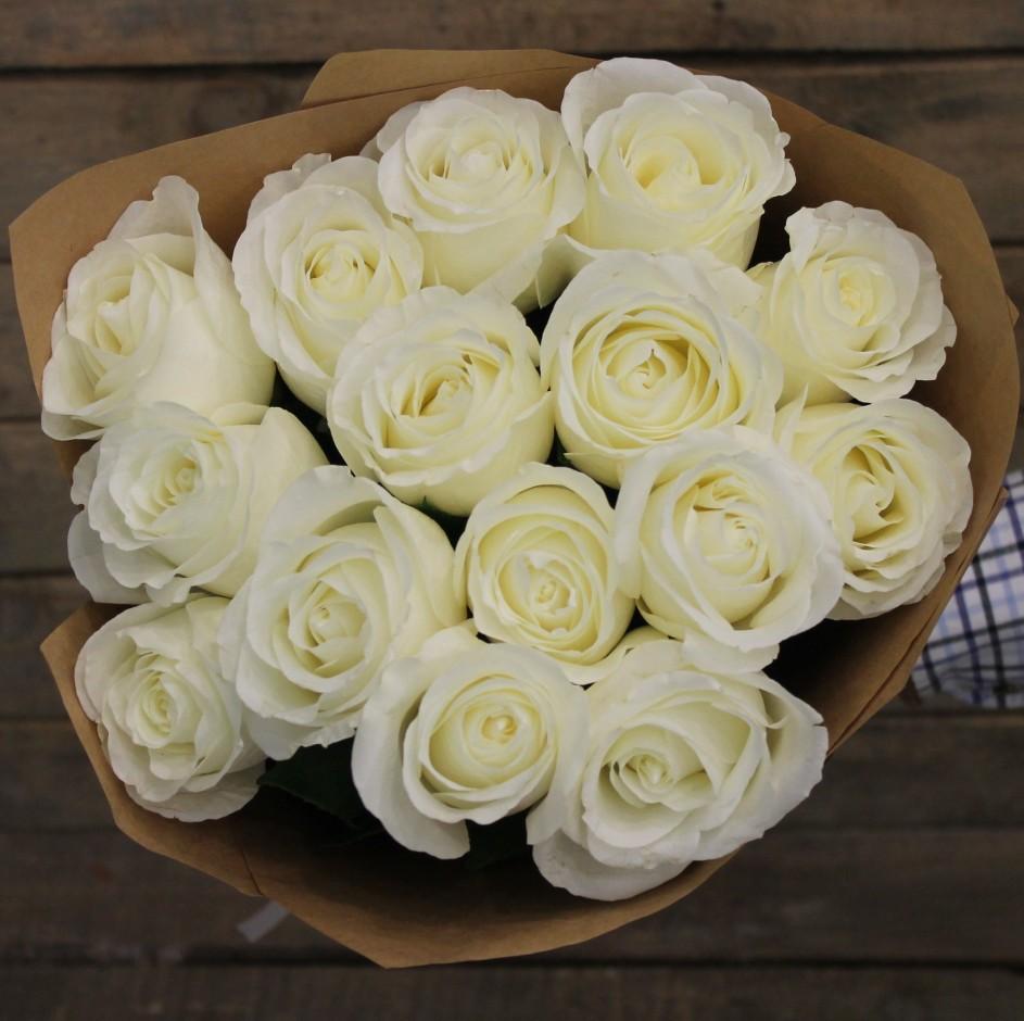 цветы белые розы букеты фото