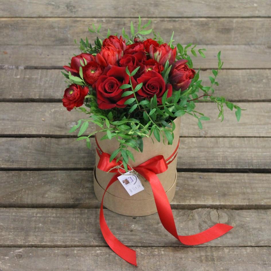 Букет из роз в коробке своими руками 60