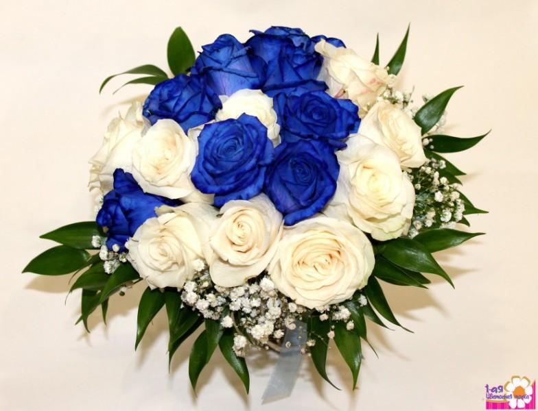 Сапфир свадебный букет невесты из