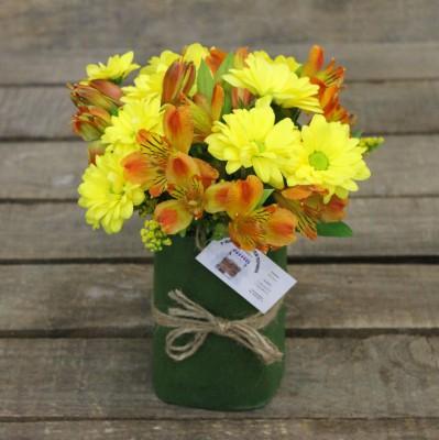 Букеты из хризантем своими руками фото 86
